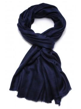 Handwoven cashmere pashmina Stole dark blue