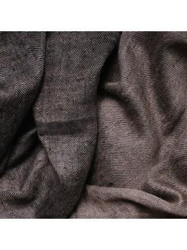 Véritable Pashmina réversible 100% cachemire Noir / Beige naturel