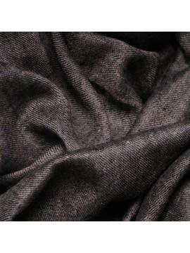 Véritable Pashmina réversible 100% cachemire Noir/Beige naturel Grand modèle