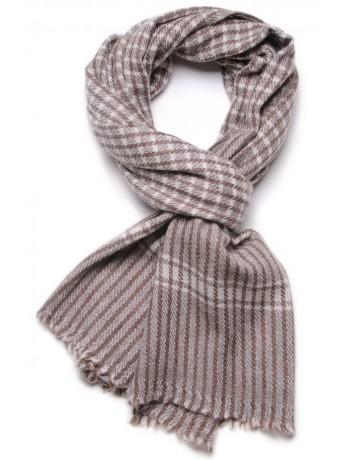 CHECKS BROWN, 100% cashmere scarf