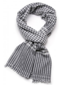 CHECKS 2 GREY, 100% cashmere scarf