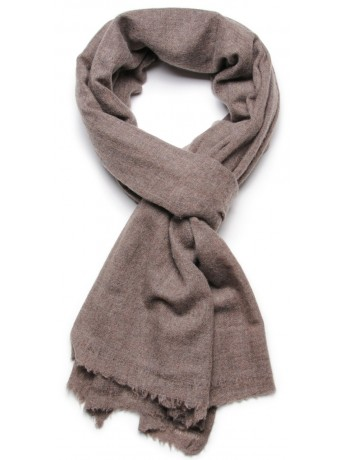 NATURAL 1 BROWN, 100% cashmere stole
