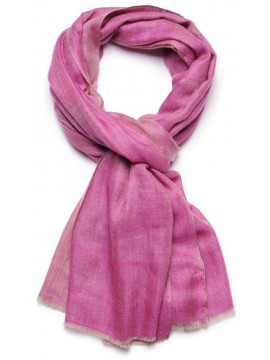 SACHA PINK, Handwoven cashmere pashmina Stole REVERSIBLE