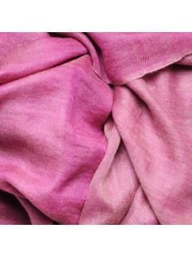 Genuine pashmina 100% cashmere reversible Pink / natural beige