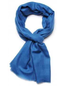 Handwoven cashmere pashmina Stole Sapphire blue