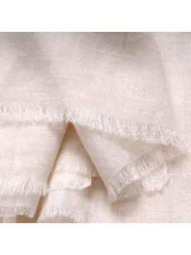 TOOSH PASHMINA Natural ivory white Deluxe handwoven cashmere pashmina