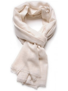 Genuine Toosh pashmina shawl 100% cashmere Natural white