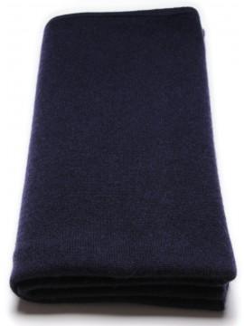 100% cashmere poncho dark blue