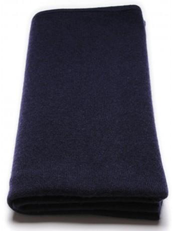 Poncho 100% cachemire Bleu marine