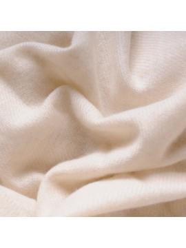 Echarpe pur cachemire petit modèle écru naturel tissage twill 2 fils