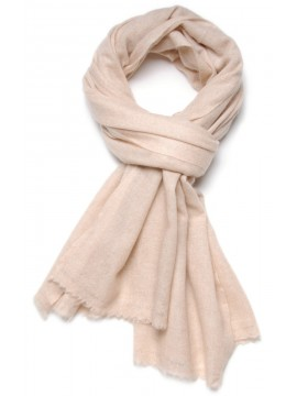 NATURAL 1 LIGHT BEIGE, 100% cashmere stole