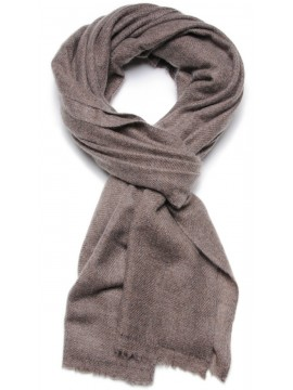 NATURAL 2 BROWN, 100% cashmere stole