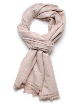 100% cashmere scarf natural light beige 2 ply