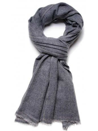 NATURAL 2 CHARCOAL, 100% cashmere stole