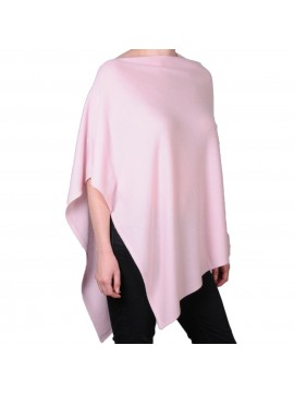100% cashmere poncho light pink
