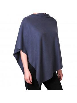 100% cashmere poncho slate grey