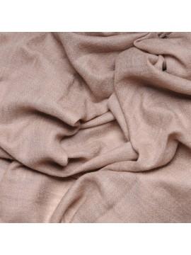 Etole véritable Pashmina cachemire beige naturel tissé main