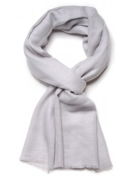 Genuine light grey pashmina 100% cashmere