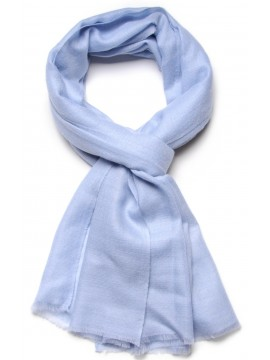 Handwoven cashmere pashmina Stole Light blue