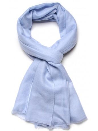 Genuine light blue pashmina 100% cashmere