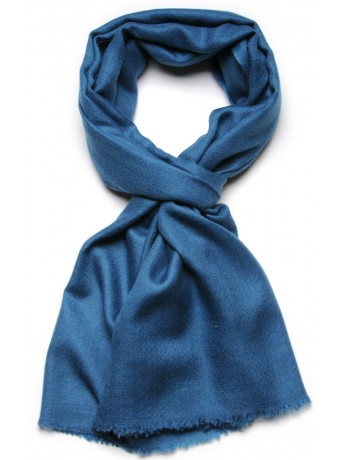 Genuine teal blue pashmina 100% cashmere