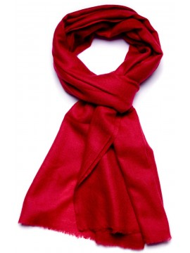 Genuine carmine red pashmina 100% cashmere