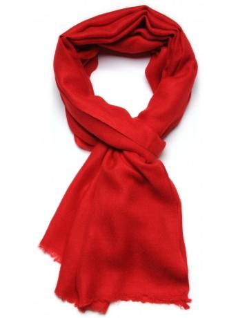 Véritable Pashmina 100% cachemire Rouge Tango