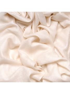 Handwoven cashmere pashmina Square Natural ivory