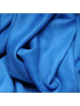 Véritable Pashmina 100% cachemire Bleu saphir Grand modèle