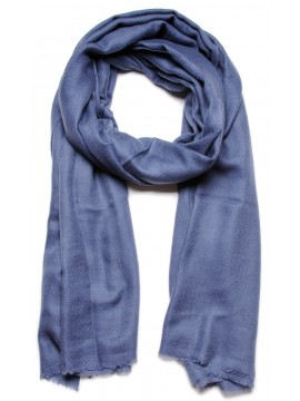 Genuine pashmina shawl 100% cashmere dark blue big size