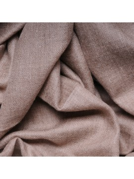 Le Véritable Pashmina 100% cachemire XXL beige naturel format plaid