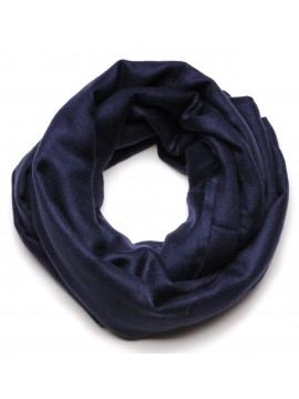 Genuine pashmina shawl 100% cashmere navy blue blanket size