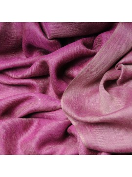 Genuine pashmina 100% cashmere reversible Pink / natural beige