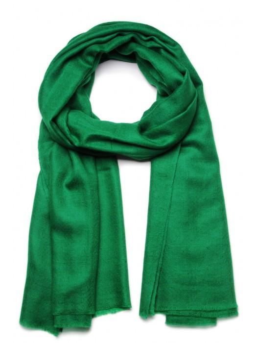 Foulard pashmina effet textur/é tiss/é /à la main en laine m/érinos et motif herringbone