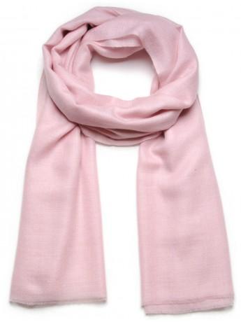Véritable Pashmina 100% cachemire Rose pastel Grand modèle