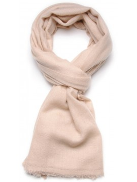 TWILL LIGHT BEIGE, 100% pure cashmere scarf