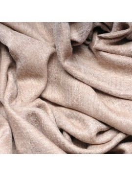 Genuine pashmina shawl 100% cashmere natural light brown blanket size