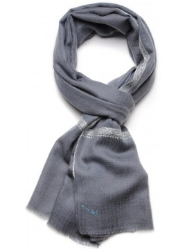 ASHA GREY, real pashmina 100% cashmere with handmade embroideries