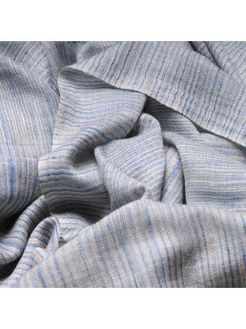 ALEX BLUE, real pashmina 100% cashmere with Ikat stripes