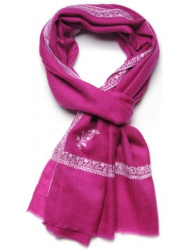ARIEL PINK, real pashmina 100% cashmere with handmade embroideries