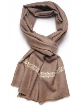ARIEL BROWN, real pashmina 100% cashmere with handmade embroideries