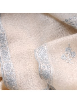 ANNA WHITE, real pashmina 100% cashmere with full handmade embroideries