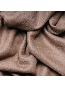 Genuine pashmina shawl 100% cashmere natural dark brown big size