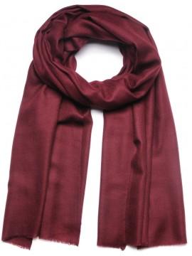 Genuine pashmina shawl 100% cashmere maroon big size