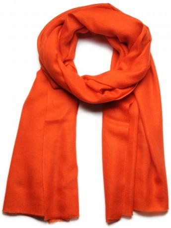 Véritable Pashmina 100% cachemire LeChâle Orange