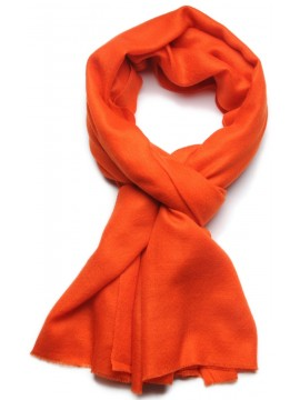 Véritable Pashmina 100% cachemire LeChâle Orange