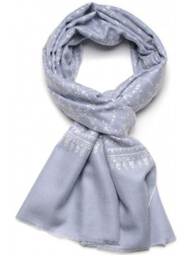 BIANCA SKY, real pashmina 100% cashmere with handmade embroideries