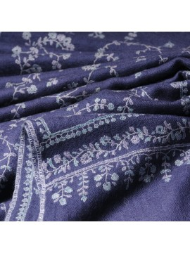 JANET STORM, Real embroidered pashmina shawl 100% cashmere