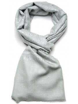 BIANCA WATERGREEN, real pashmina 100% cashmere with handmade embroideries