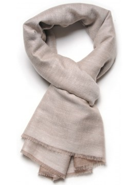 REVA BEIGE/CREAMY, Handwoven cashmere pashmina Stole dual shaded